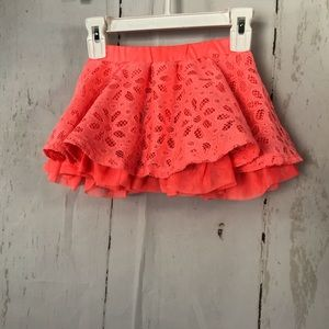 Disney fluorescent coral lace skirt